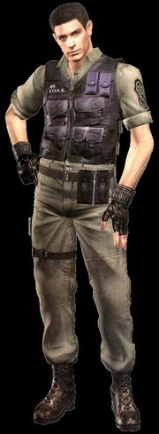 Chris Redfield during his search for his sister.