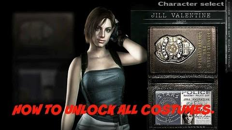 How to unlock all costumes - Resident Evil Remastered.