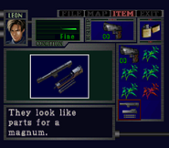 RE2 Magnum Parts english item examination