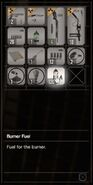 RESIDENT EVIL 7 biohazard Burner Fuel inventory