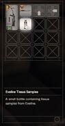 RESIDENT EVIL 7 biohazard Eveline Tissue Samples inventory