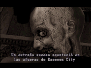 Resident Evil 2 first zombie