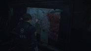 RE2 remake Police Station 1F Map location