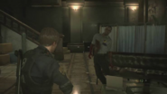 Marvin turns into Zombie RE2 remake 1