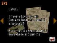 Resident Evil DS - Eric's Letter 2