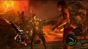 Wesker Volcano fight strategy2