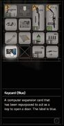 RESIDENT EVIL 7 biohazard Keycard (Blue) inventory