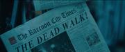Raccoon City Times Dead Walk newspaper