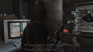 Resident Evil 4 Island Operating theater - research equipment examine