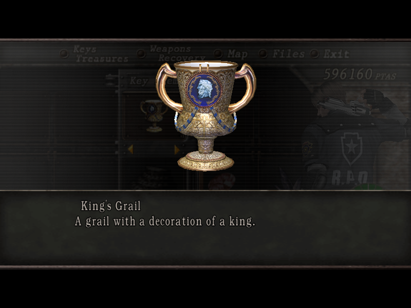 Kings grail resident evil wiki fandom powered by wikia kings grail aloadofball Image collections