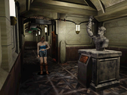 RE3 Stone statue corridor 3