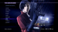 RE6 Ada Mercenaries Character Select Screen