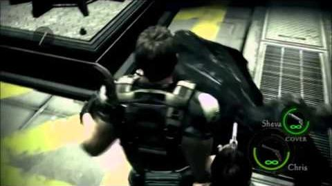 Resident Evil 5 - Chris Punched Wesker on Face
