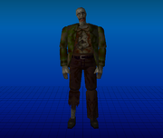 Resident Evil 1996 - Staff Zombie on RE1MV