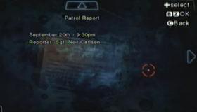 Informe de patrulla