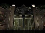 Raccoon Hall gates