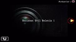 Resident Evil Boletín 1