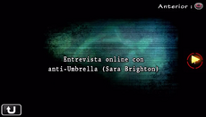 Entreista online con anti-Umbrella (Sara Brighton)