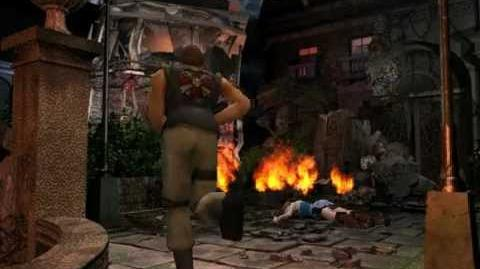 Resident Evil 3 Nemesis cutscenes - Carlos' appearance after the fight (alternate).