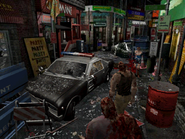 Resident Evil 3 Nemesis screenshot - Uptown - Boulevard gameplay 01