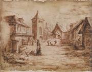 Biohazard 4 Incubate village drawing 1
