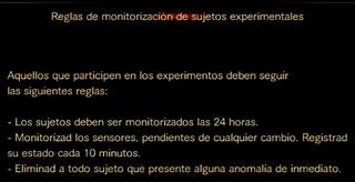 Reglas de monitorizacion de sujetos experimentales