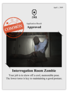 Zombieswanted interrogation room zombie