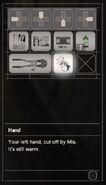 RESIDENT EVIL 7 biohazard Hand inventory