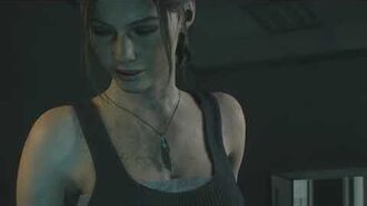 Resident Evil 2 remake all scenes - Claire leaves Sherry at the Security Room