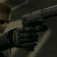 Вескер вооружён пистолетом в Umbrella Chronicles