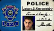 BIOHAZARD 1.5 textures - Leon S Kennedy police badge