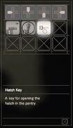 RESIDENT EVIL 7 biohazard Hatch Key inventory