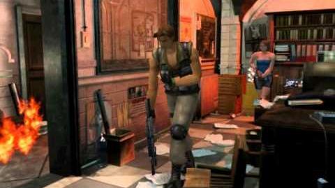 Resident Evil 3 Nemesis cutscenes - Meeting Carlos (Hide in the back)