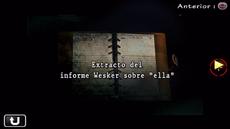 Extracto del informe Wesker sobre ella