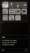 Resident Evil 7 Teaser Beginning Hour axe inventory