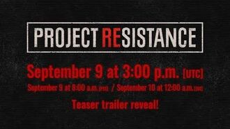 PROJECT RESISTANCE Teaser trailer