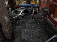 Resident Evil 3 Nemesis screenshot - Uptown - Boulevard gameplay 03