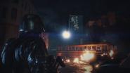 HUNK prepares to leave Raccoon City RE2 remake