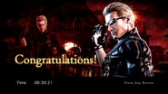 RE0HD Wesker results