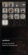 RESIDENT EVIL 7 biohazard Lug Wrench inventory