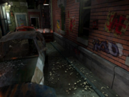 Resident Evil 3 background - Uptown - street along apartment building c - R10D02
