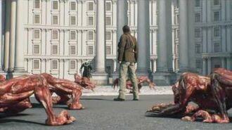 Resident Evil Damnation Tyrant Scene
