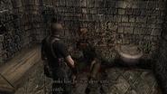 Resident Evil 4 Castle - Underground waterway corpse examine 1