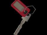 Key with a Red Tag