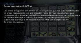 Archivo Armas Biorgánicas (B.O.W.s)