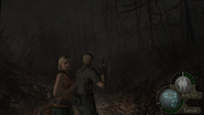 Re4 screenshot dark forest path