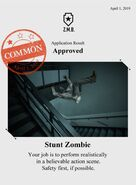 Zombieswanted stunt zombie