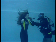 Making of Resident Evil - Anna Bolt in water 3
