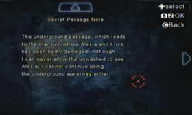 Nota del pasaje secreto
