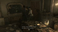 Resident Evil 0 HD - Cafeteria kitchen examine 1